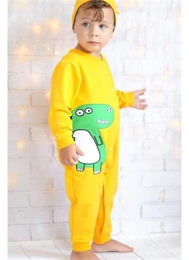 Riccotarz Unisex Bebek Sweet Dino Sarı Tulum Sarı